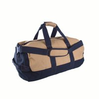 """Stansport Duffle Bag with Zipper, 2-Tone, 14"""" x 24"""""""