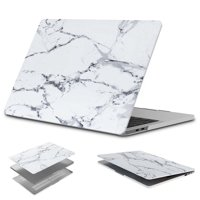 Njjex Laptop Case for MacBook Pro (W/O USB-C) Retina 13 Inch (A1502/A1425)(W/O CD-ROM) Release 2015/2014/2013/end 2012, Plastic Hard Hard Case Shell Cover, White Marble
