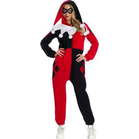 Drake Dc Halloween (Halloween DC Super Heroes Harley Quinn Adult Onesie)