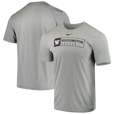 Nike Soccer Footwear (Washington Huskies Nike Soccer Team Sport Legend Performance T-Shirt - Gray )