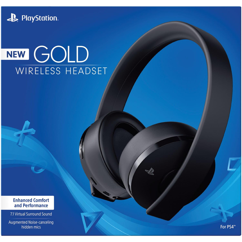 Sony Playstation 4 Gold Wireless Headset Black Walmart Com Walmart Com