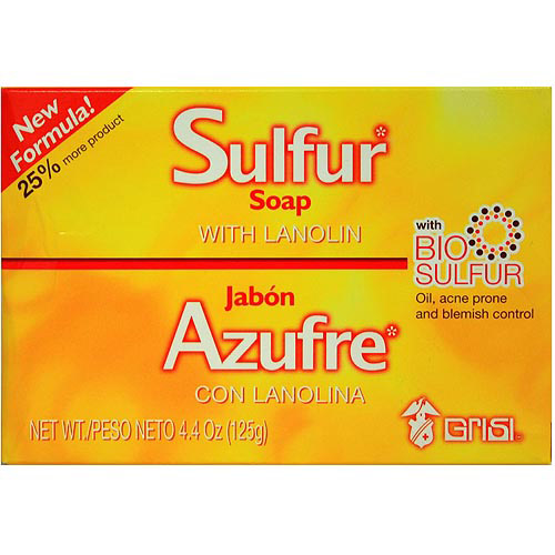 Grisi Sulfur Soap with Lanolin, 4.4 oz