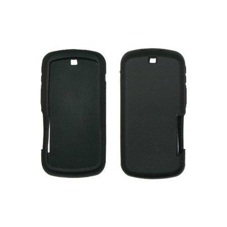 Nextel I465 Clutch (Black Silicone Gel Skin Cover Case for Motorola Clutch)