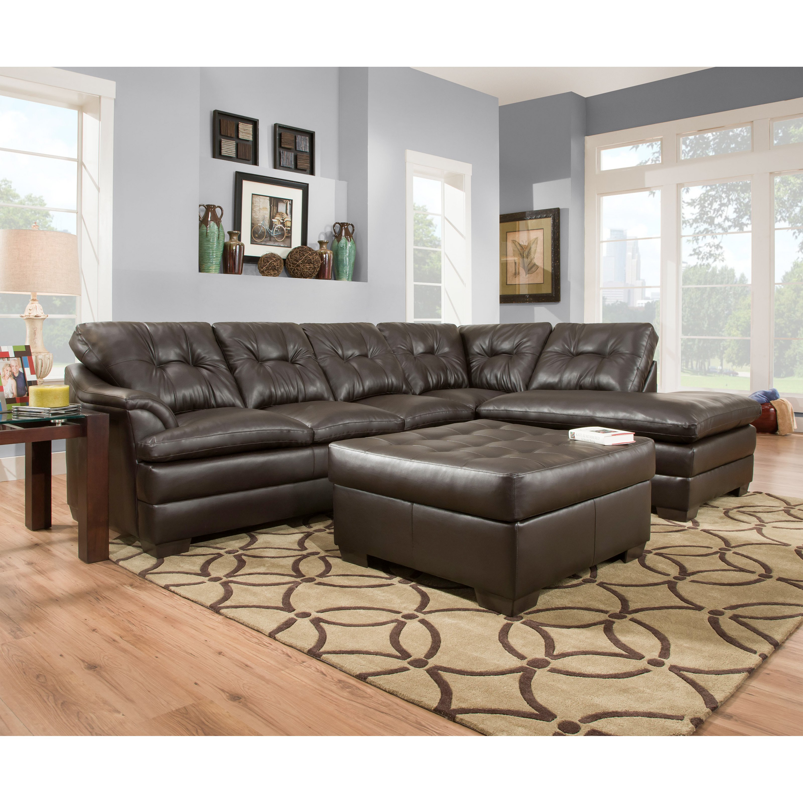 upholstery garden shipping simmons godiva today bernie sectional home overstock product free