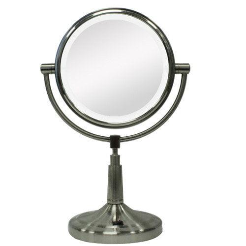 LEDV45 Dual LED lighted vanity mirror 1X & 5X magnification