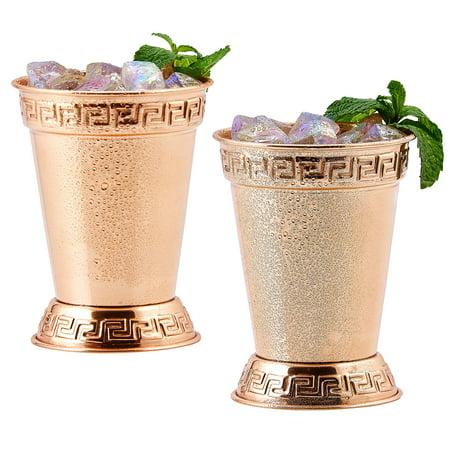Solid Copper Mint Julep Cups, 12 Oz -2 Piece Set