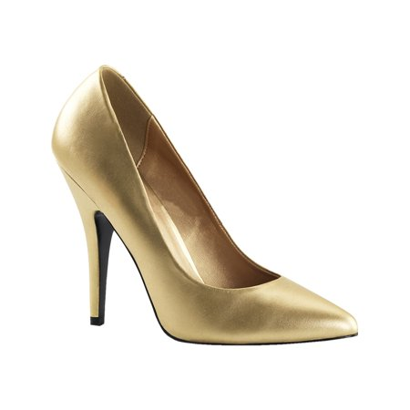 5 Inch Sexy High Heel Shoe Women's Dress Shoes Classic Pump Shoes Gold for $<!---->