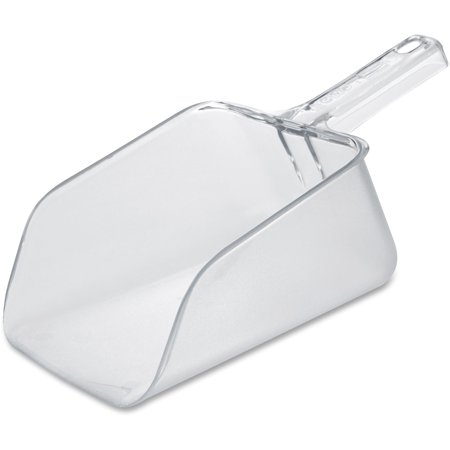 6 Oz Clear Polycarbonate Scoop - Rubbermaid Commercial, RCP288600CLR, 64 oz. Bouncer Utility Scoop, 1 Each, Clear