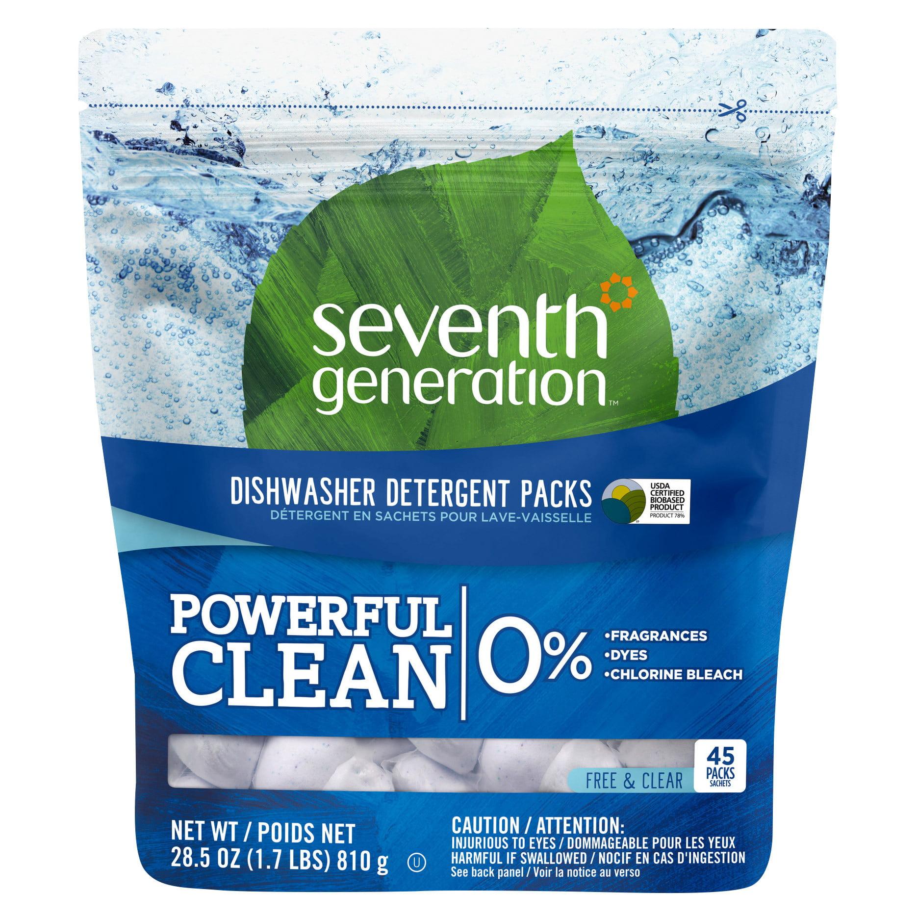 Seventh Generation Natural Dishwasher Detergent Packs 45ct