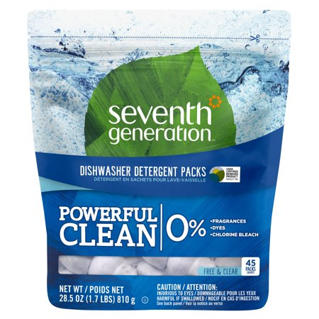 Seventh Generation Natural Dishwasher Detergent Packs 45ct