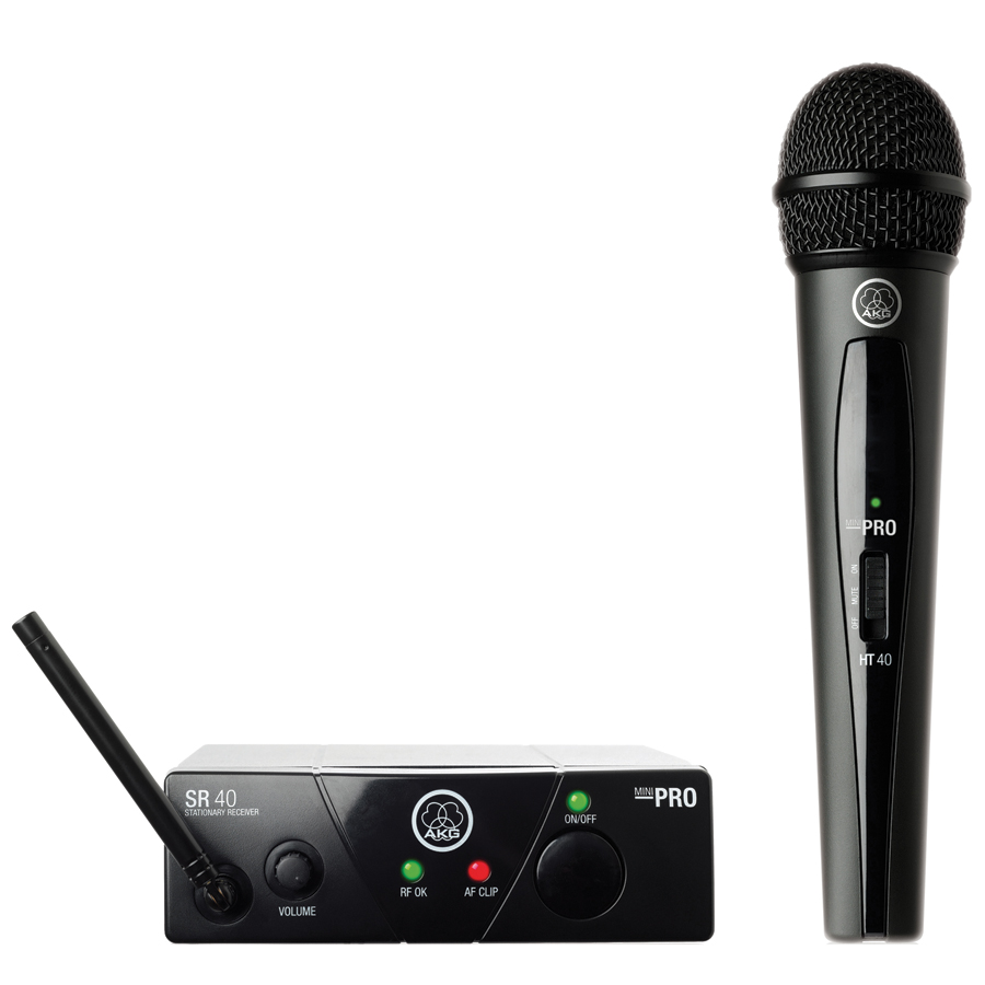 AKG WMS40 Wireless Mini Single Vocal Microphone Set, Band 45a by AKG