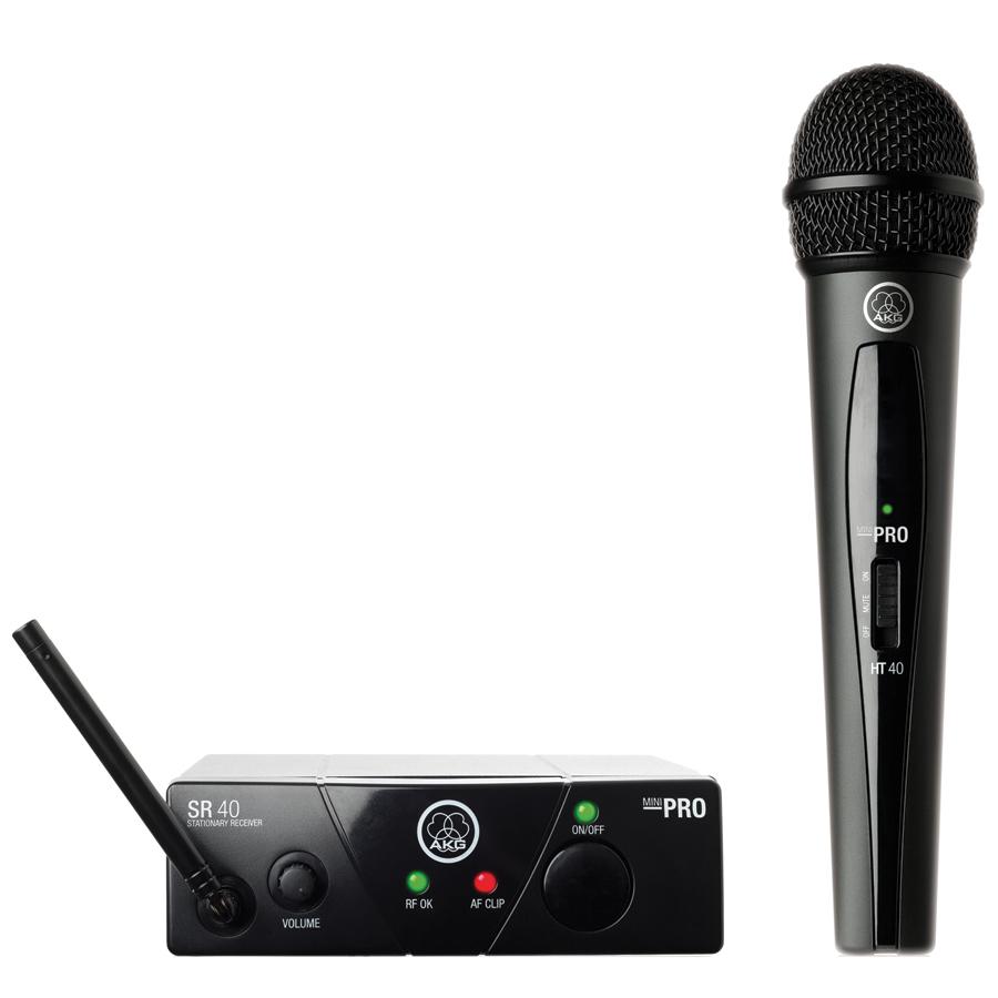 AKG ACOUSTICS WMS40 Wireless Mini Single Vocal Microphone...