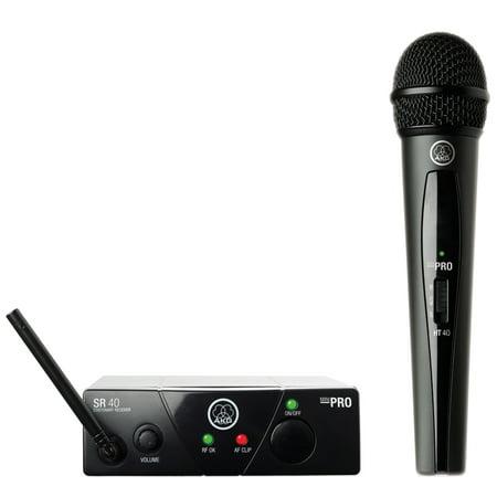 AKG WMS40 Wireless Mini Single Vocal Microphone Set, Band (Akg Wms 40 Mini Vocal Wireless System Review)