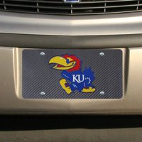 Kansas Jayhawks Carbon Fiber License Plate - No Size