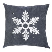 New Creative Embellished Snowflake 18 inch Outdoor Safe Pillow