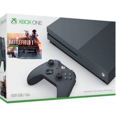 Refurbished Microsoft Zzg 00028 Xbox One S Battlefield 1 Special Edition Bundle  Grey  500Gb