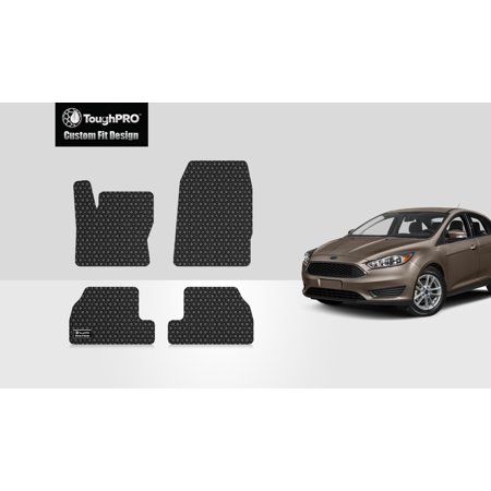ToughPRO - FORD Focus 1st & 2nd Row Mats - All Weather - Heavy Duty - Black Rubber - 2018