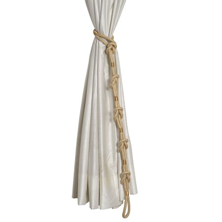 - Golden Double Square Jute Rope Knot Curtain Tie Back 42-43