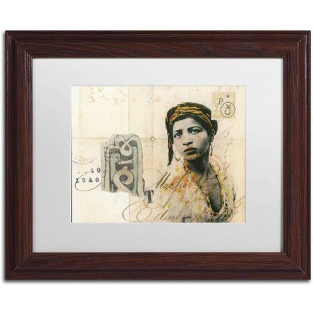 Trademark Fine Art Ronda Maur Canvas Art By Nick Bantock  White Matte  Wood Frame