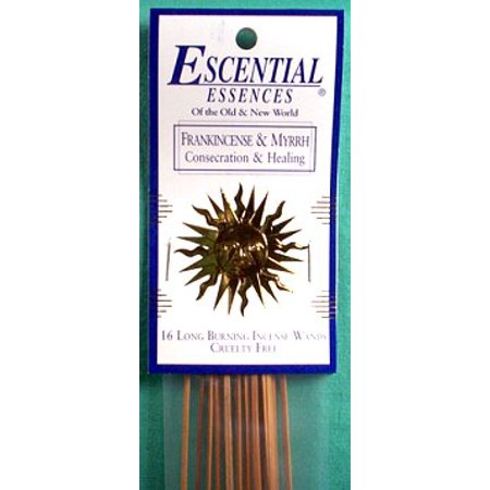Essential Essences Incense Frankincense Essences Incense and Myrrh 16pk Sticks Rich Calming Fragrance to Bring Protection Purification and Healing Atmosphere Into Home Prayer Meditation Aromatherapy