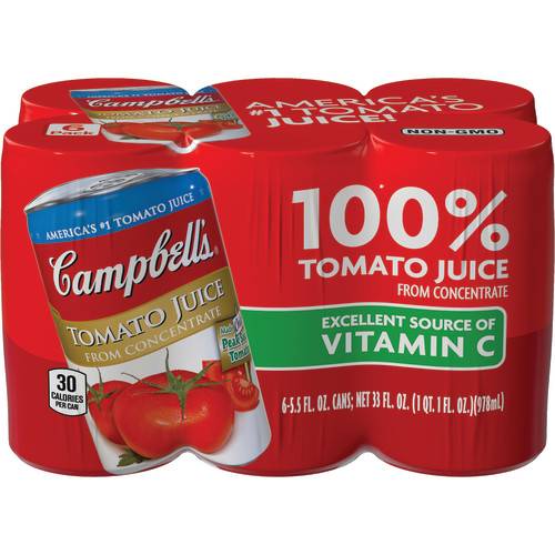 Campbell's Tomato Juice, 5.5 oz., 6 pack