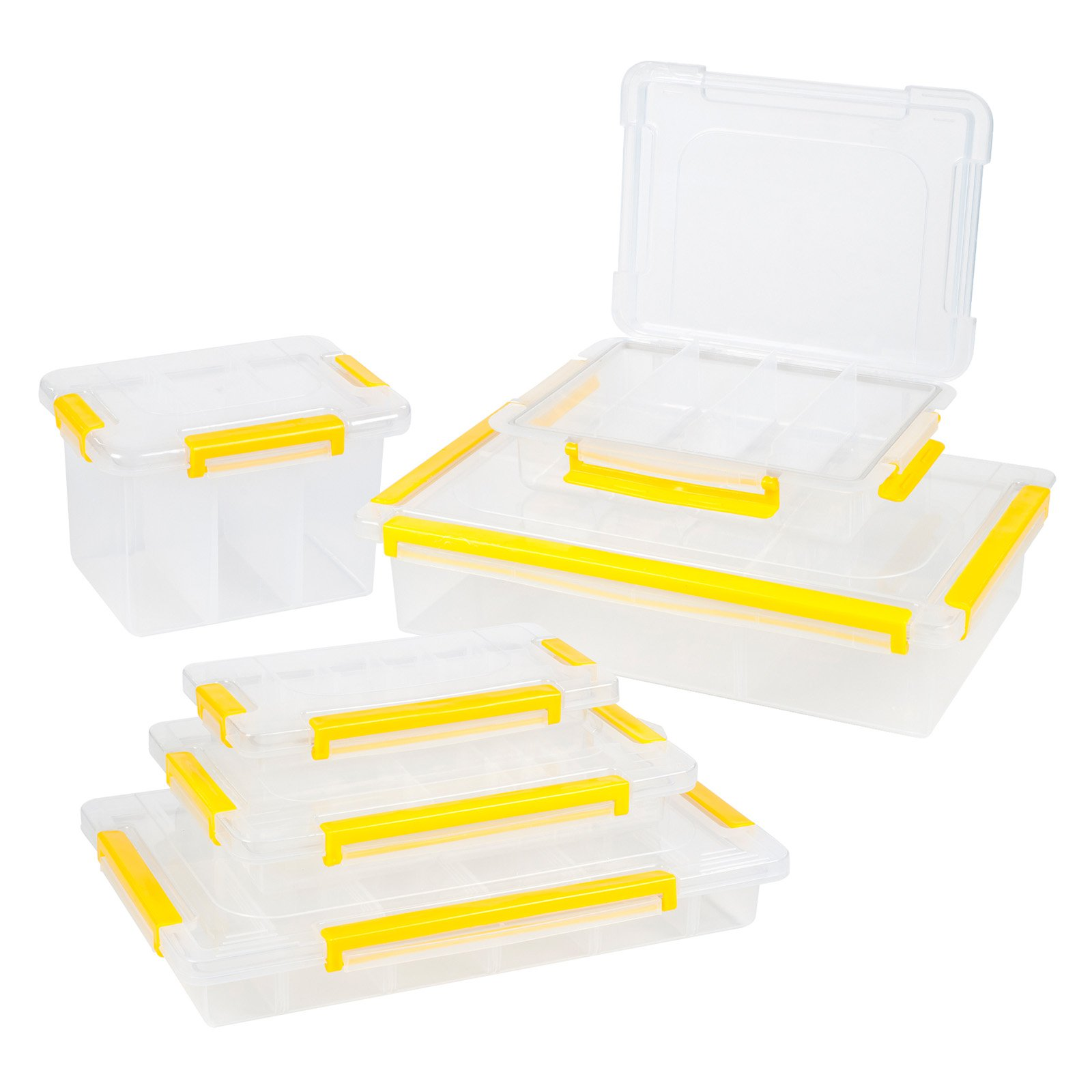 Stalwart Parts and Crafts Storage Organizers 6 Tool-Box Set