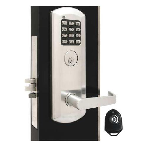 TOWNSTEEL XME-9010-Q-626 Classroom Lock, Stin Chrome, Quest Lever