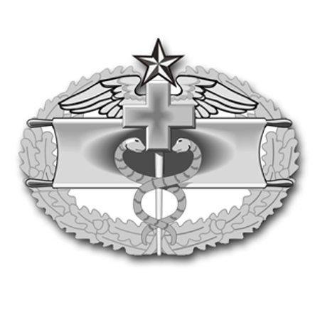 3.8 Inch Army Combat Medical Second Award Badge Vinyl Transfer Decal Combat Action Badge Decal