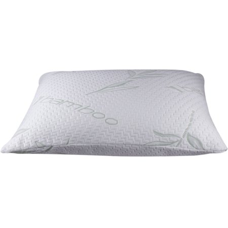 Memory Foam Allergy-Free Hypoallergenic Cover Comfort Cooling Bamboo Pillow - (Standard/Queen, Single) ()
