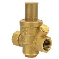 OTVIAP 1pc Brass Adjustable Water Pressure Reducing Regulator Valve Thread DN15 1/2 , DN15 Pressure Regulator Valve, 1/2 Pressure Regulator Valve