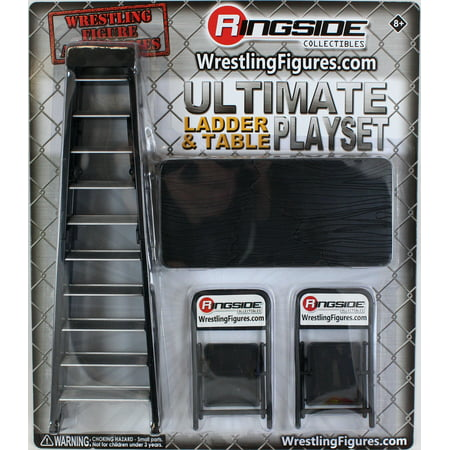 Ultimate Ladder & Table Playset (Black) - Ringside Collectibles Exclusive Toy Wrestling Action Figure - Kids Sumo Wrestling