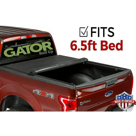Gator Roll Up (fits) 2007-2013 Chevy Silverado GMC Sierra 6.5 FT. Bed Only Soft Tonneau Truck Bed Cover Made in the USA 53107