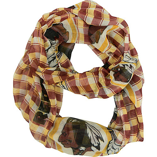 Washington Redskins Official NFL 10 inch  x 7.5 inch  Infinity Scarf Plaid by Little Earth