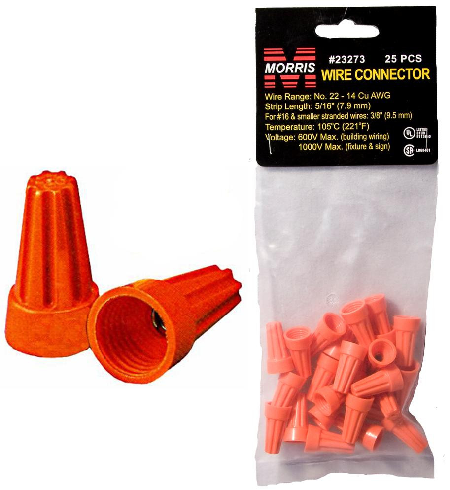Screw-On Wire Connectors P3 Orange Hanging Bag 25 Pack