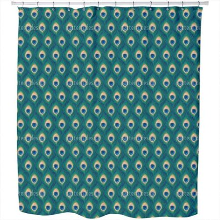 thousand and one peacock feathers shower curtain extra long 70 inches x 90 inches. Black Bedroom Furniture Sets. Home Design Ideas