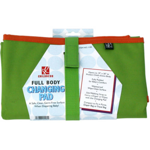 J.L. Childress Full Body Changing Pad, Green/Orange