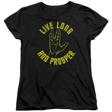 Star Trek Live Long Hand Womens Short Sleeve - Star Trek Shirt Womens