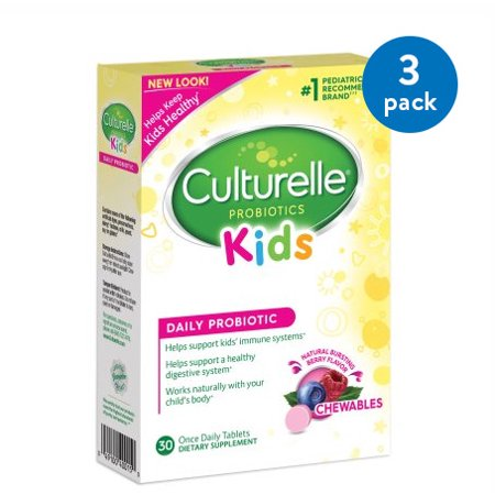 (3 Pack) Culturelle Probiotic Kids Daily Probiotic - 30 CT (Highest Rated Probiotics)