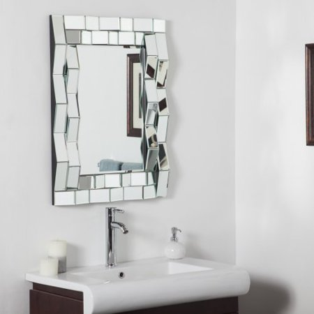 iso modern bathroom wall mirror 24w x 32h in. Black Bedroom Furniture Sets. Home Design Ideas