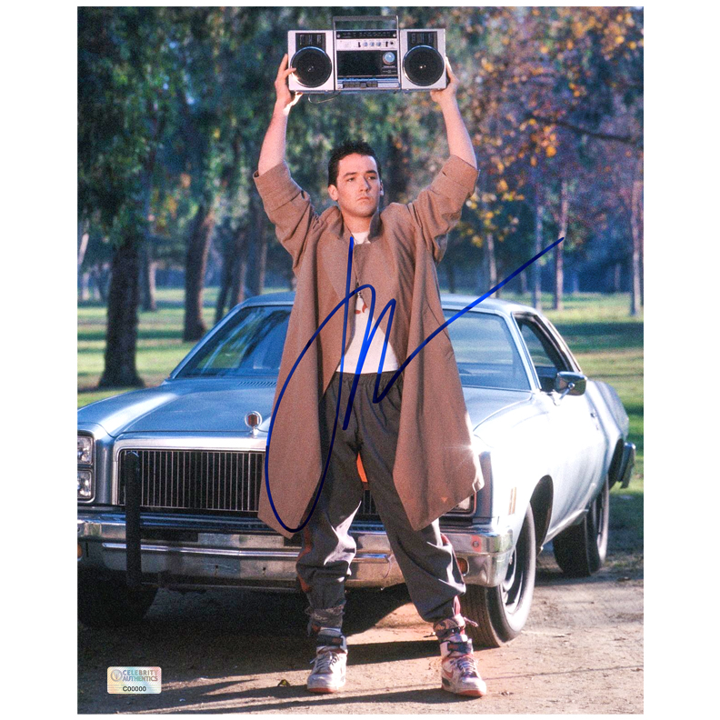 John Cusack Autographed Say Anything 8?10 Lloyd Dobler Photo