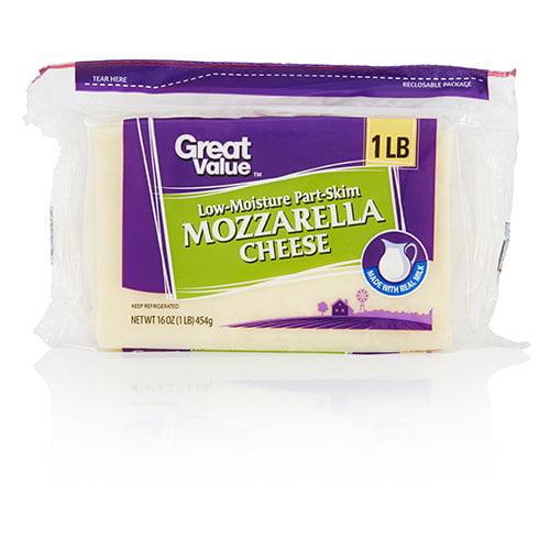 Great Value Mozzarella Cheese, 16 oz