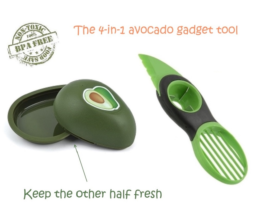 Buyless Kitchen 3-in-1 Avocado Cutter Pitter Slicer, Comfortable Grip, Easy to use Gadget. And Avocado Fresh... by Buyless Kitchen