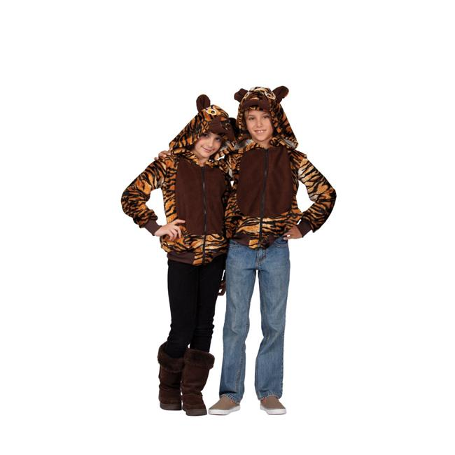 Taylor Tiger Hoodie Child Costume - Brown, Medium