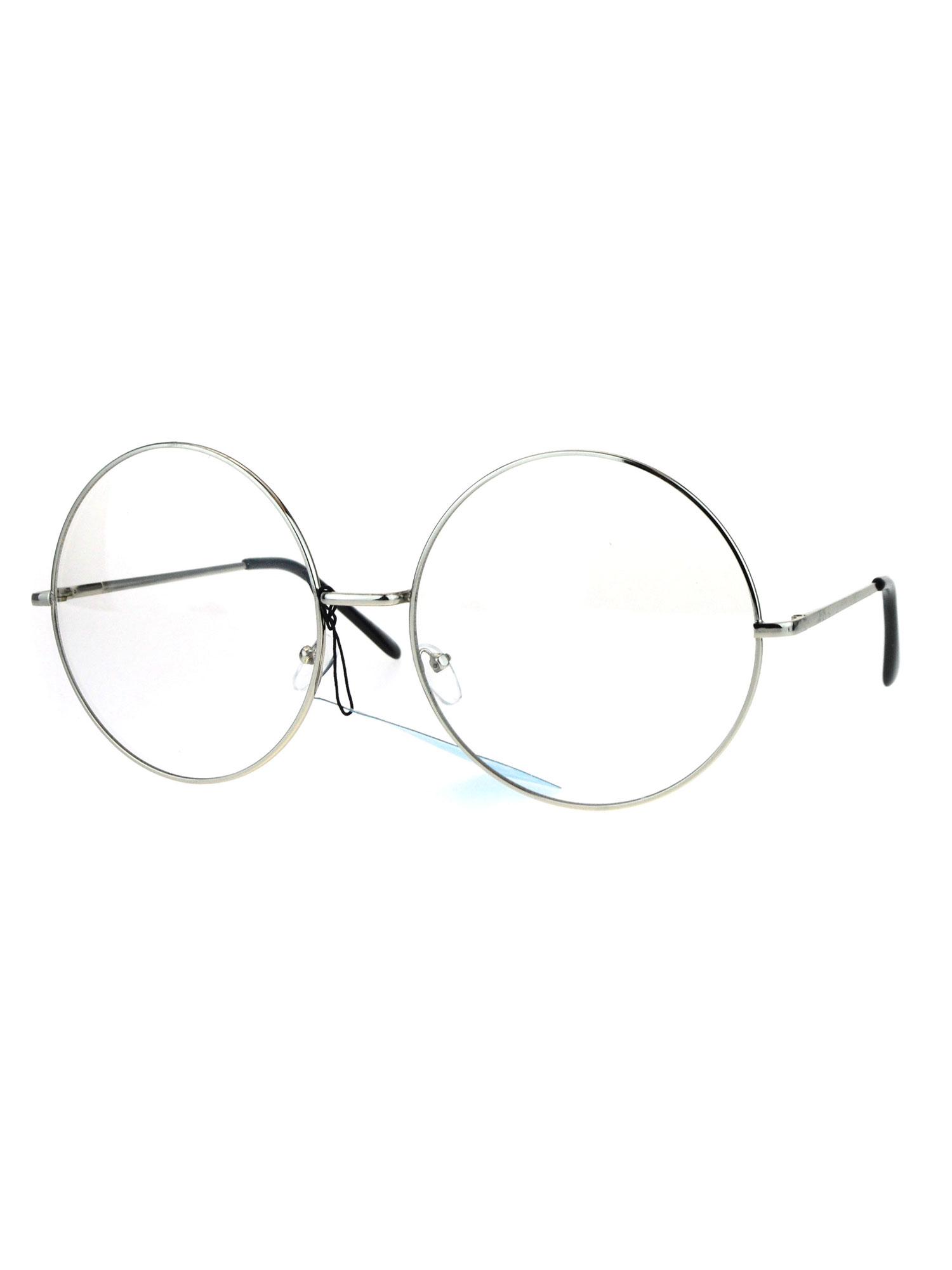 SA106 Ultra Flat Lens Trendy Circle Round Lens Retro Hippie Sunglasses