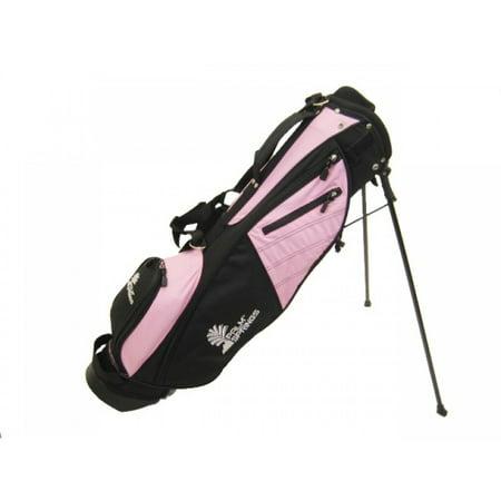 PALM SPRINGS Sunday Golf Bag w/stand Pink/Black Tech Golf Stand Bag
