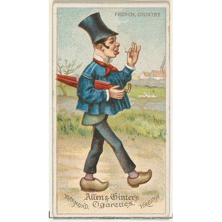 French Country Series (French Country from Worlds Dudes series (N31) for Allen & Ginter Cigarettes Poster Print (18 x)