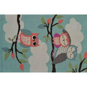 "The Rug Market Owl On A Limb Blue 2.8"" x 4.8"" Area Rug"