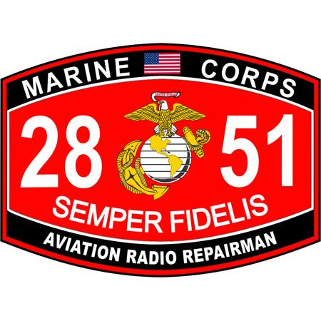 3.8 Inch Aviation Radio Repairman Marine Corps MOS 2851 USMC Military Decal