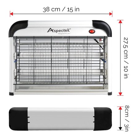 Aspectek 20W 6000sqft Coverage Electronic Indoor Commercial insect and mosquito killer zapper (Commercial Insect Killer)