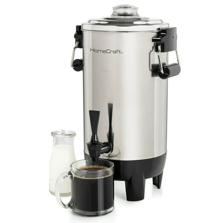 - HomeCraft CU30SS Quick-Brewing 1000-Watt Automatic 30-Cup Coffee Urn, Stainless Steel